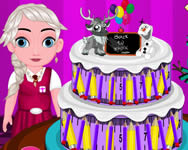 Baby Elsa back to school cake spiele online
