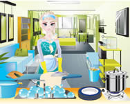 Elsa house cleaning spiele online